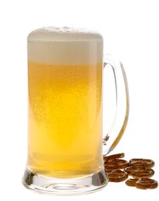 Free Beer Mug With Crunches. Stock Photography - 9356452
