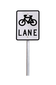 Bicycle Lane Traffic Sign - Australian Road Sign Royalty Free Stock Photos