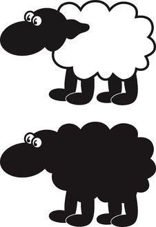 Free Comic Sheep Royalty Free Stock Image - 9357466