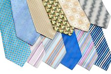 Free Colour, Striped Male Ties Royalty Free Stock Photo - 9358445