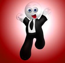 Free Jumping Happy Businessman Icon Stock Photo - 9358530
