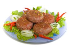 Meat Rissoles Stock Photos