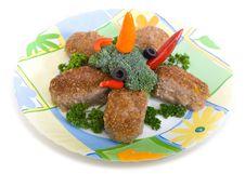 Meat Rissoles Stock Images
