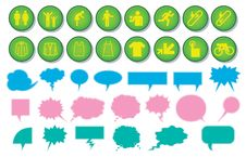Free Icon And Speech Bubble Designs Stock Photos - 9359233