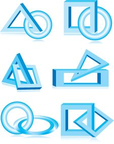 Free Blue Vector Design Elements Royalty Free Stock Image - 9359846