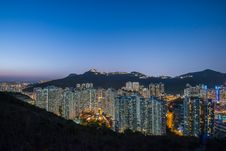 Free Aberdeen Typhoon Shelters View At Yuk Kwai Shan &x28;mount Johnston&x29; In Sunset Time Stock Photo - 93551040