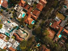 Free Aerial Photography Of Village During Daytime Royalty Free Stock Image - 93553766
