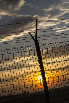 Free Gray Metal Fence During Sunset Stock Images - 93554474
