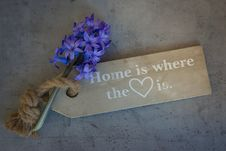 Free Home Is Where The Heart Is Quote Decor With Lavender Stock Photography - 93554642