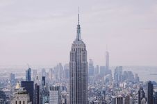 Free Empire State Building On A Foggy Day Stock Photography - 93554832
