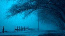 Free Misty Path By Lake In Winter Royalty Free Stock Photos - 93556138