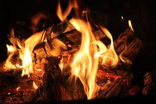 Free Burning Cinders Royalty Free Stock Photo - 93556265