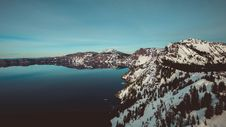 Free Mountain Lake In Winter Stock Image - 93556291