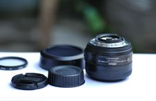 Free Camera Lens Set On Table Royalty Free Stock Photos - 93556318