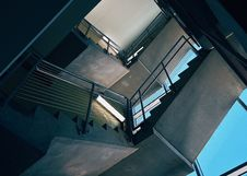 Free Bottom View Of Stairs Inside Building Stock Photography - 93556322