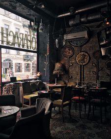 Free Interior Of W Oparach Absurdu Restaurant  Stock Image - 93556701