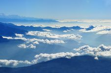 Free Scenic View Of Clouds Over Mountains Against Blue Sky Stock Images - 93557014