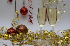 Free Sparkling Wine At Holiday Royalty Free Stock Photography - 93557247