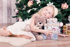 Free Girl With Christmas Presents Royalty Free Stock Photos - 93557928