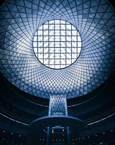 Free Futuristic Ceiling With Grids Stock Image - 93558911