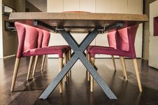 Free Red Chairs In Room Stock Images - 93559044