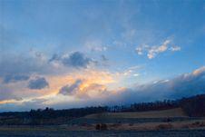 Free Cloudy Sky At Sunset Stock Photos - 93559283