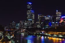 Free Skyscrapers On River Bank Stock Photography - 93559782