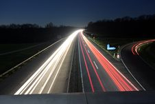 Free Car Lights On Highway Royalty Free Stock Photo - 93559795