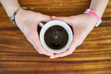 Free Woman Holding Cup Of Coffee Royalty Free Stock Image - 93560876