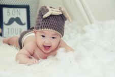 Free Baby Boy With Cap Stock Photo - 93561630