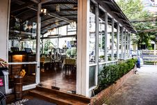 Free Glass Enclosed Dining Room Stock Images - 93561654