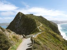 Free Path Along Ridge Over Coastline Stock Photography - 93562522