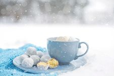 Free Coffee Cup, Powdered Sugar, Cup, Tableware Stock Image - 93564111