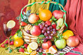 Free Background With Fruits In Basket Stock Photography - 9361022
