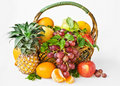 Free Background With Fruits In Basket Stock Photo - 9361260
