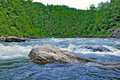 Free Large Rock In River Rapids Stock Photos - 9361613