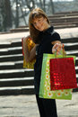 Free Woman With Shopping Bags Royalty Free Stock Images - 9363309