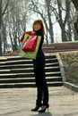 Free Woman With Shopping Bags Royalty Free Stock Photos - 9363328