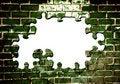 Free Old Green Brick Wall Royalty Free Stock Photo - 9363925