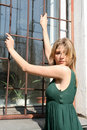 Free Sexy Girl Standing Near A Window Stock Photography - 9365652