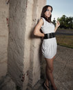 Free Sexy Woman Leaning On A Wall Royalty Free Stock Photography - 9366207