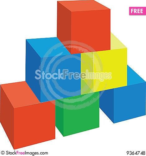 Free Cubes 01 Royalty Free Stock Photos - 9364748