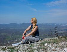 Free Woman And Mountains Stock Photos - 9360923