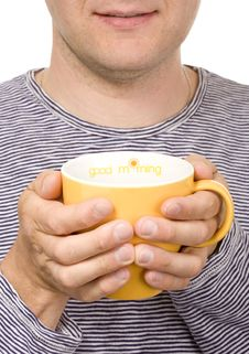 Free Man With A Cup Stock Photos - 9361253