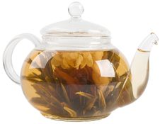 Free Teapot With Green Tea Stock Photos - 9361273