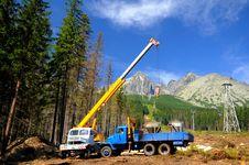 Crane  Concreting Royalty Free Stock Photography