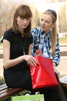 Free Looking Into Shopping Bag Stock Image - 9361621