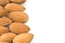 Free Almond Kernels  In White Background Stock Image - 9361821