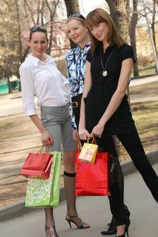 Free Shopping Women Royalty Free Stock Image - 9362886