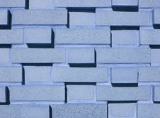 Multi-Layered Blue Brick Wall Royalty Free Stock Photography